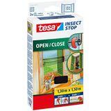 Tesa Insect Stop Klittenband Open / Close hor voor ramen 150x130cm zwart