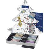Tekenset Faber-Castell Pitt Artist Pen kerstdisplay
