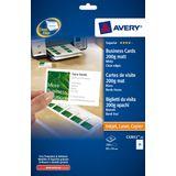 Visitekaartjes Avery 85x54mm 200gr wit 25 vel 10 kaarten per vel