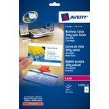 Visitekaartjes Avery 85x54mm 220gr wit 25 vel 10 kaarten per vel