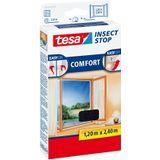 Tesa Insect Stop Comfort Klittenband hor voor ramen, 120x240cm antracie
