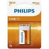 Philips Longlife Zinc 9V/6F22 blister 1