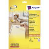 Etiket Avery ILK 25,4x10mm wit NP 25 vel 189 etiketten per vel