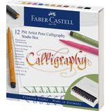 Tekenstift Faber-Castell Pitt artist kalligrafieset Studiobox 12 stuks