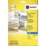 Adresetiket Avery 210x297mm transparant 25 vel 1 etiket per vel
