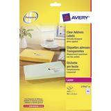 Laseretiket Avery 38,1x21,2mm transparant 25 vel 65 etiketten per vel