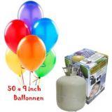 Helium Tank met 50 ballonnen