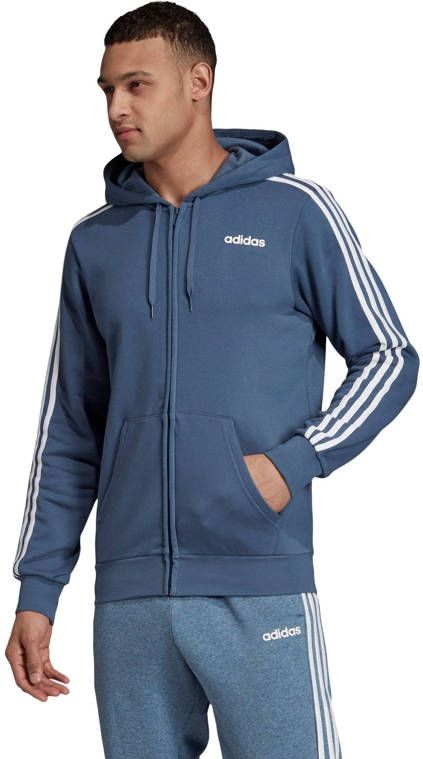 Adidas Essentials 3 Stripes vest heren blauwwit (vesten