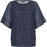 2-in-1-blouse stippenprint Samoon multicolour