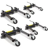 Datona Automovers hydraulisch 4 stuks - DT-53128-4 - Zwart