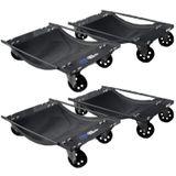 Datona Automovers set van 4 stuks - DT-53126-2 - Zwart
