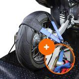 Datona Wielharnas voor motorfietsen + spanbanden set - dagdeal-DT-58282-DT-58292 - Blauw