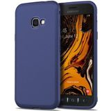 Samsung Galaxy Xcover 4(S) Twill Slim Texture Backcover Blauw