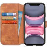 DG Ming Retro Portemonnee Apple iPhone 11 Hoesje Bruin