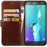 Rosso Element Samsung Galaxy S6 Edge Plus Hoesje Book Cover Bruin