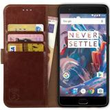 Rosso Element OnePlus 3T / 3 Hoesje Book Cover Bruin
