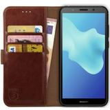 Rosso Element Huawei Y5 2018 Hoesje Book Cover Bruin
