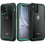 Apple iPhone 11 Pro Hybride Full Protect Hoesje Zwart/Cyaan