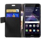 Huawei P8 Lite (2017) Portemonnee Hoesje Zwart