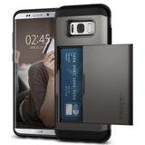 Spigen Slim Armor Card Slot Samsung Galaxy S8 Hoesje Gunmetal