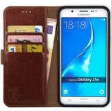 Rosso Element Samsung Galaxy J7 2016 Hoesje Book Cover Bruin