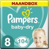 Pampers Baby Dry Maat 8 - 104 Luiers