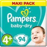 Pampers Baby Dry Maat 4+ - 94 Luiers