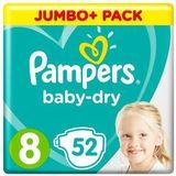 Pampers Baby Dry Maat 8 - 52 Luiers