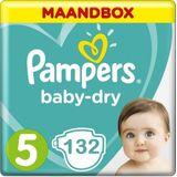 Pampers Baby Dry Maat 5 - 132 luiers Maandbox