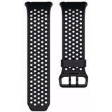 Fitbit Ionic sport polsband maat Small (Zwart/Grijs)