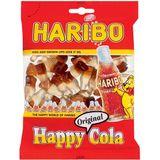 22x Haribo snoep happy cola, zak van 200 g