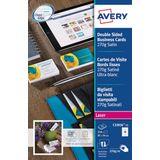 2x AVERY visitekaarten Quick&Clean 270 g/m²