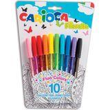 13x Carioca balpen Fiorella, blister met 10 stuks in geassorteerde kleuren