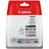 Canon »PGI-580/CLI-581 BK/CMYK Multi Pack 5-farbig« inktpatroon