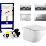 Geberit up100 toiletset randloos mudo set 62 met delta drukplaat