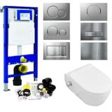 Geberit up320 toiletset set 51 wandcloset sanilux easy flush slim met bidet sigma drukplaat