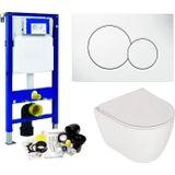 Geberit up320 toiletset set 64 plieger lima met sigma drukplaat