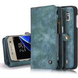 CASEME Samsung Galaxy S7 Edge Leren Portemonnee Hoesje - Blauw