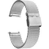 Just in Case Milanees armband voor Motorola Moto 360 42mm Men (2nd gen) - Silver