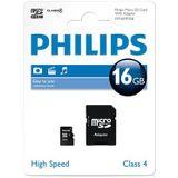 Philips Micro SD (SDHC, Class 4) 16 GB Memory / Storage . Inclusief gratis SD-adapter!