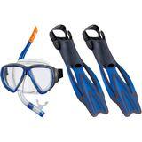 Beco Porto DX 3.0 Snorkel Set And Fins - Blue