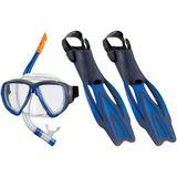 Beco Porto DX 3.0 Snorkel Set And Fins - Blue - 40-42