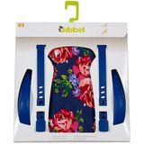 Qibbel Achterzitje Stylingset - Blossom Roses Blauw