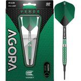 Target Dartpijlen Agora Verde AV30 - Softtip Zilver - Groen