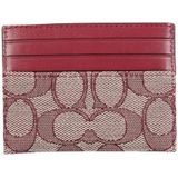 Card Holder With Logo Coach Portemonnees Dames Rood Onesize