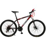 26 inch Dual Disc Brake Variable Speed Mountain Bicycle (Rood)