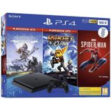 Console PS4 SLIM - 500 GB Black Hits Pack HZD/RATCHET/SPIDERMAN