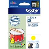 Brother LC-22UY Yellow Ink for DCP-J785DW (1200 pages)
