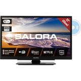 Salora 22LED9109CTS2DVDWIFI, 22in/55cm travel TV 12/230V