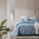 Bedsprei Retro Flower Blue - 180 x 250